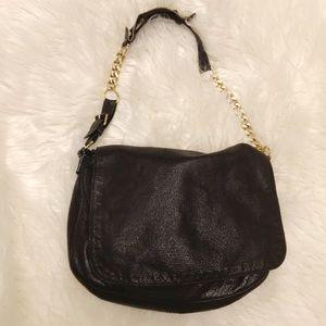 Rare Balenciaga black leather flip purse